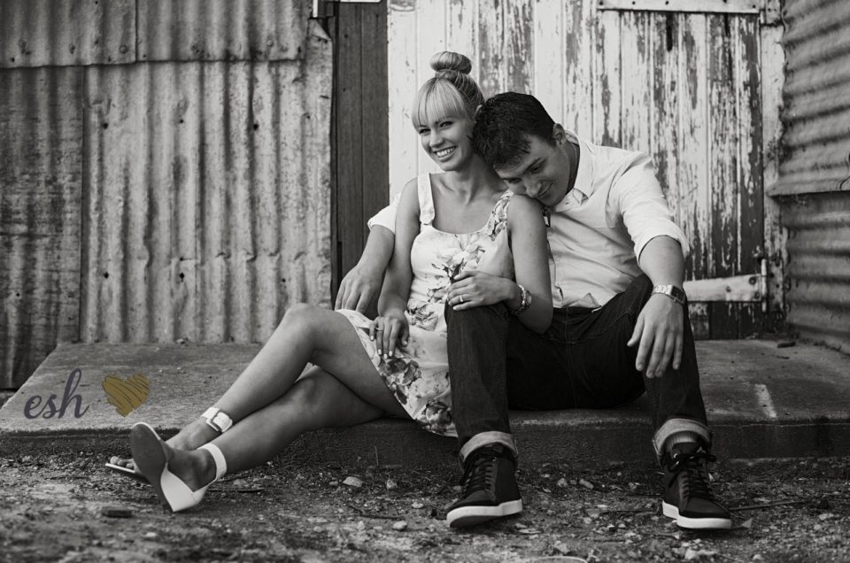 Erica & Steven – Engagement photos – Canberra – Woolshed